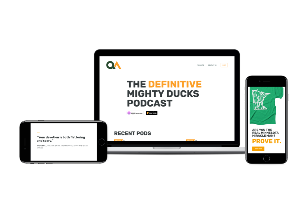 The Quack Attack Website Design and Development